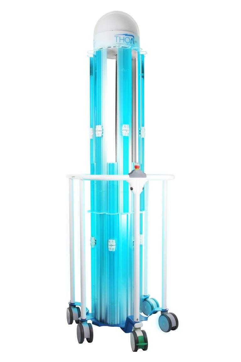 THOR UVC® - Unita colonna estesa (lampade accese)