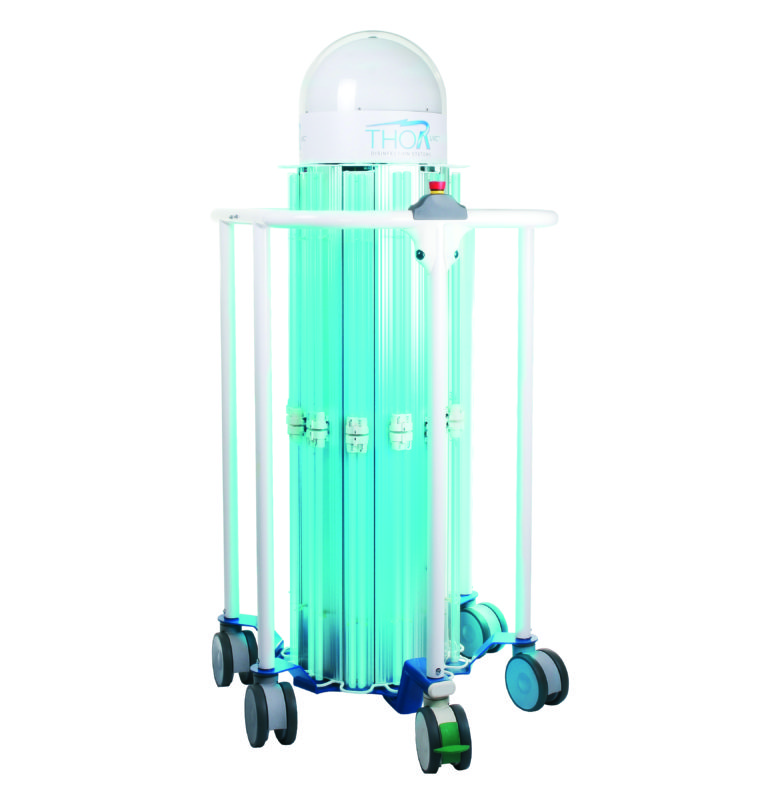 THOR UVC® - Unita in posizione di riposo (lampade accese)